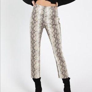 Wild Honey Faux Snakeskin Pants